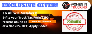 EXCLUSIVE 2290 TAX OFFER - WIT