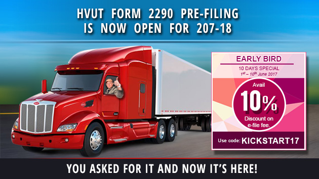PreFile 2290 for 2017 Tax Year HVUT filing