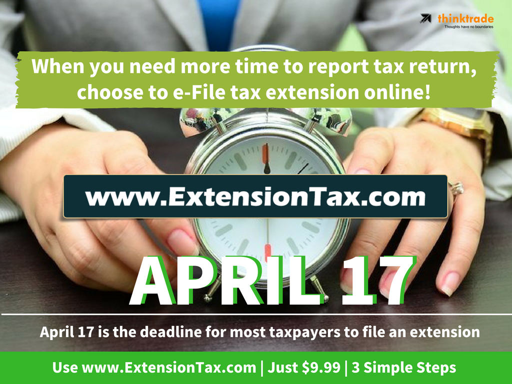 Extension tax form 4868 is due now