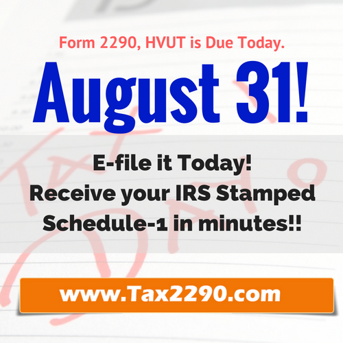 tax 2290 e-file due date today