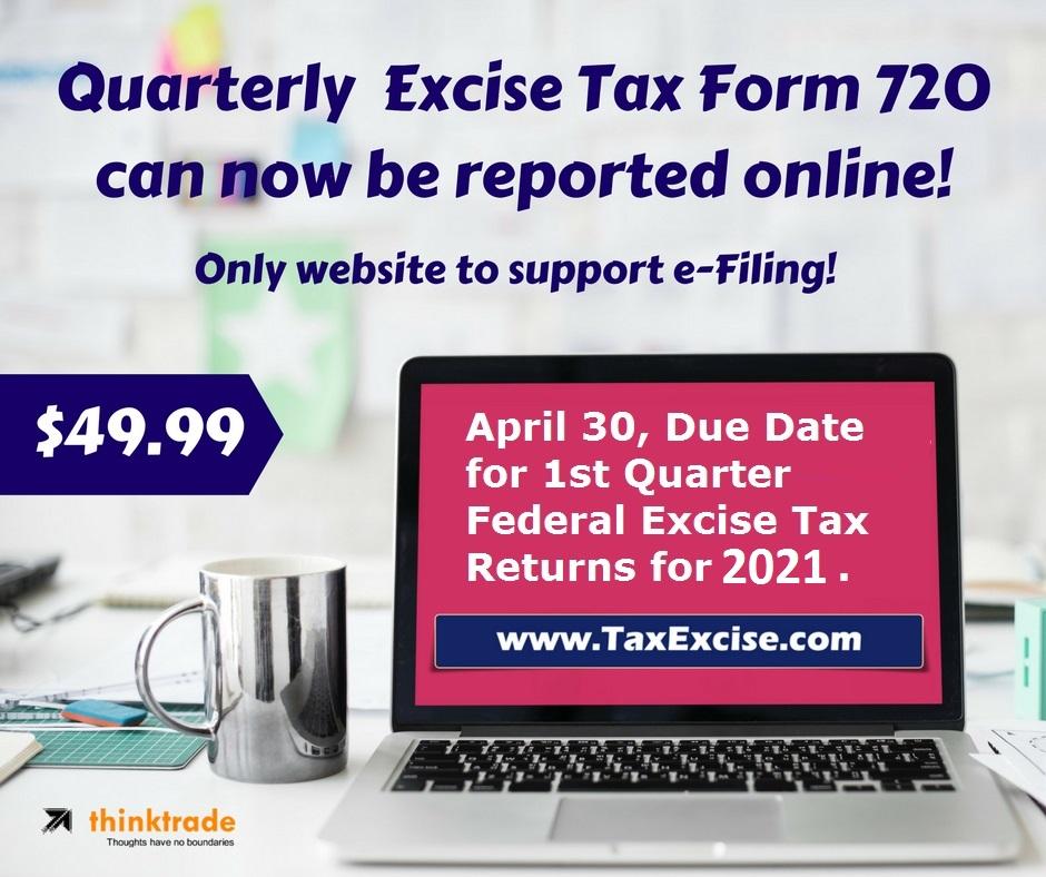 Quarterly Federal Excise Tax Returns Form 720 - Q1